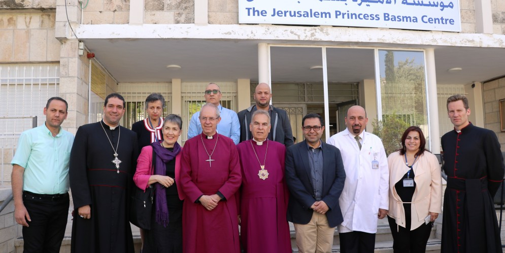 The Right Honorable Archbishop of Canterbury visits the Jerusalem Princess Basma Centre